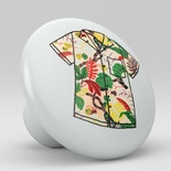 Tropical Floral Hawaii Shirt Ceramic Knob Design 22