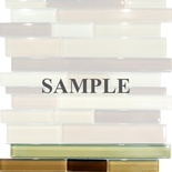 Sample Brown Tan Glass Blends Mosaic Tile