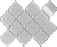 White Arabesque Moroccan Pattern Glass Mosaic Tile