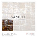 Sample Iridescent Brown Glass Mosaic Tile