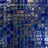 Blue Iridescent Glass Mosaic Tile