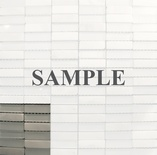 Sample Carara Marble White Glass Blends Mosaic Tile