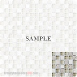 Sample Tuscany Travertine Marble Stone Cream Glass Blends Mosaic Tile