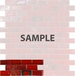 Sample Red Iridescent Glass Mosaic Tile