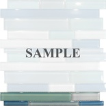 Sample Blue White Glass Blends Mosaic Tile