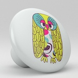 Owls Whimsical Ceramic Knob Design 4