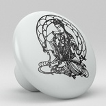 Black Buddha Ceramic Knob