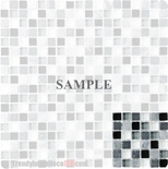 Sample Marble Black Gray White Glass Blends Mosaic Tile