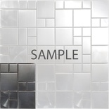 Sample Matte Industrial Style Stainless Steel Pattern Mosaic Tile