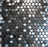 Penny Circle Stainless Steel Mosaic Tile