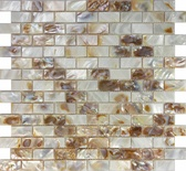 Mother Of Pearl Sea Shell Subway Brick Mosaic Tile