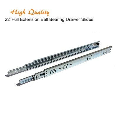 22 Inch Full Extension Ball Bearing Drawer Slides Kitchen Cabinet