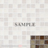 Sample Brown Cream Crackle Glass Blends Mosaic Tile