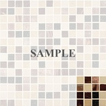 Sample Mediterranean Roman Brown Beige Glass Blends Mosaic Tile