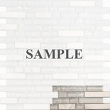 Sample Pure White Crackle Glass Carrera Marble Blends Mosaic Tile