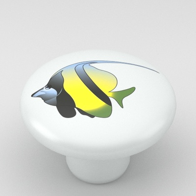 Tropical Fish Butterfly Ceramic Knob Design 2