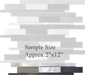 Sample Black Gray Aluminum Glass Blends Mosaic Tile