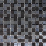 Modern Black Iridescent Glass Mosaic Tile