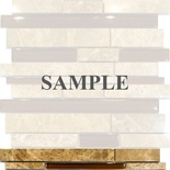 Sample Emperador Cafe Brown Glass Blends Mosaic Tile