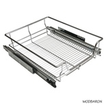 22 in. W x 16 in. D x 6-3/4 in. H Heavy Duty Soft Close Concealed Slide Pull-Out Wire Basket