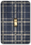 Black Gray Gingham Contemporary Metal Switch Plate
