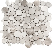 Carrara White Marble Circle Bubble Pattern Mosaic Tile