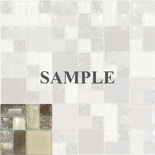 Sample Brown Beige Crackle Pattern Glass Blends Mosaic Tile