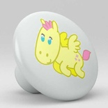 Cute Yellow Unicorn Ceramic Knob Nursery