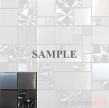 Sample Brushed Nickel Jeweling Pattern Stainless Steel Blends Mosaic Tile
