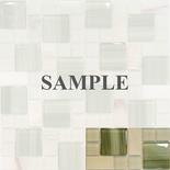Sample Green Onyx Marble Glass Blends Pattern Mosaic Tile
