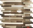 Stainless Steel Brown Cream Beige Glass Blends Mosaic Tile