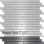 Sample Stainless Steel Metal Interlocking Mosaic Tile