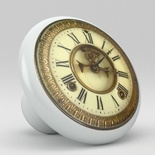 Antique French English Country Clock Watch Ceramic Knob Design 11
