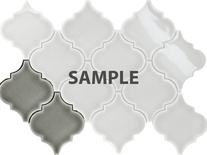 Sample Gray Porcelain Moroccan Pattern Mosaic Tile