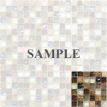 Sample Emperador Marble Metallic Crackle Glass Blends Mosaic Tile