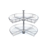 2-Shelf 28 in. Kidney-Shaped Lazy Susan