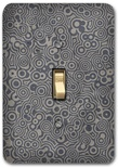 Dark Gray Abstract Polka Dot Pattern Metal Switch Plate