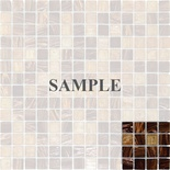 Sample Grand Canyon Brown Iridescent Glass Blends Mosaic Tile