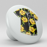 Tropical Floral Hawaii Shirt Ceramic Knob Design 2