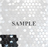 Sample Penny Circle Stainless Steel Mosaic Tile