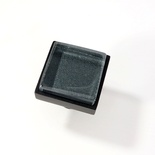 Metallic Gray Blue Crystal Glass Black Metal Square Perception Knob