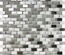 White Glass Mother Of Pearl Shell Stainless Steel Blends Mosaic Tile