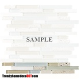 Sample Tuscany Travertine Blue Beige Glass Blends Mosaic Tile