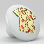 Tropical Floral Hawaii Shirt Ceramic Knob Design 10