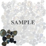 Sample Black Iridescent Glass Blends Flat Pebble Pattern Mosaic Tile
