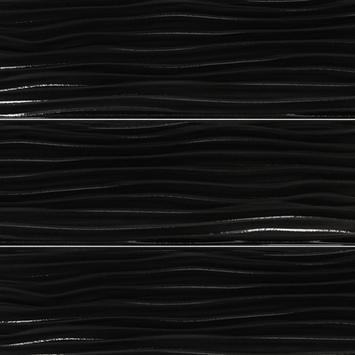 Black Wave Texture Subway Glass Mosaic Tile Modbaron