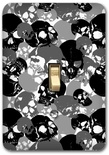 Skull Pattern Camel Style Metal Switch Plate