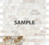 Sample Mother Of Pearl Sea Shell Subway Brick Mosaic Tile