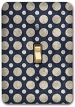 Gray Black Dot Polka Contemporary Metal Switch Plate