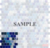 Sample Blue Iridescent Glass Blends Mosaic Tile
